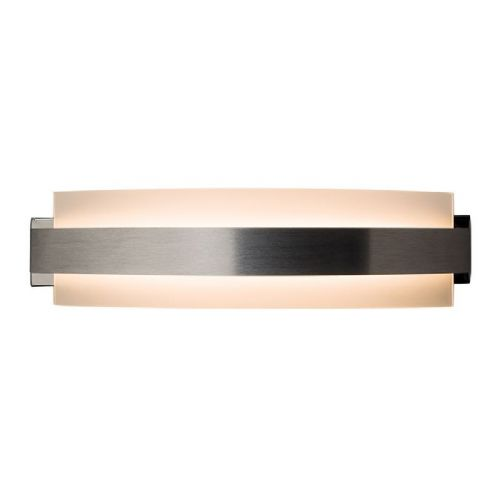 LED Brushed aluminium & frosted glass Wall Light 61235 by Endon